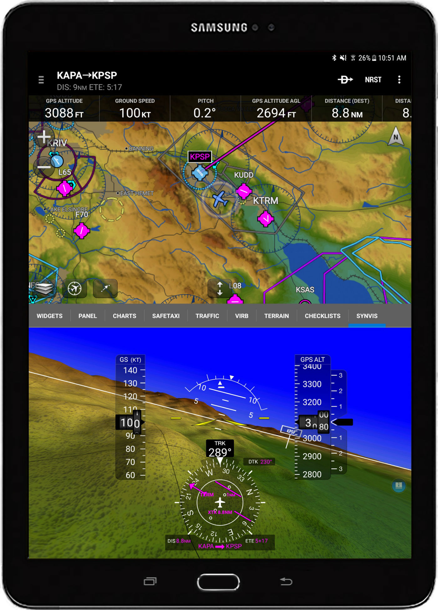Garmin Pilot customers can now access synthetic vision on Android devices, as well as pilot-configurable checklists within the app. Garmin Photos