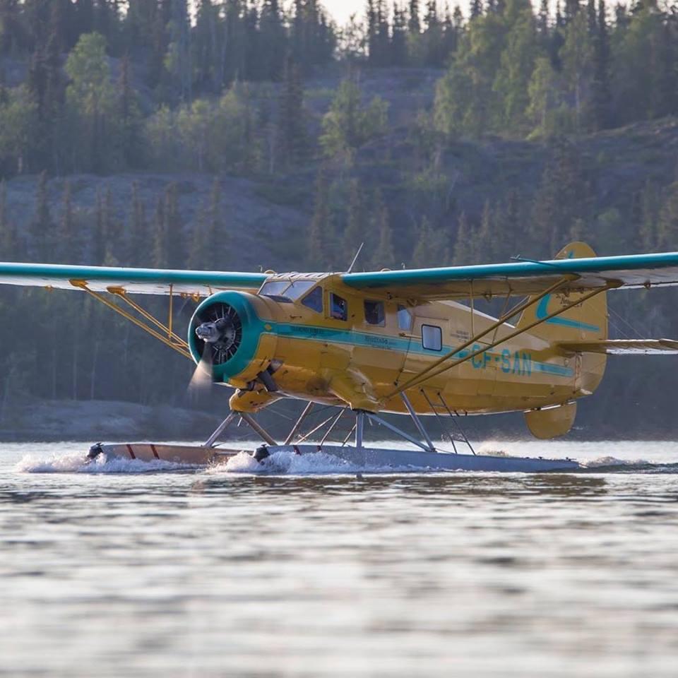 Buffalo Airways' Noorduyn Norseman cuts a striking figure against the rugged landscape of Yellowknife, N.W.T.
