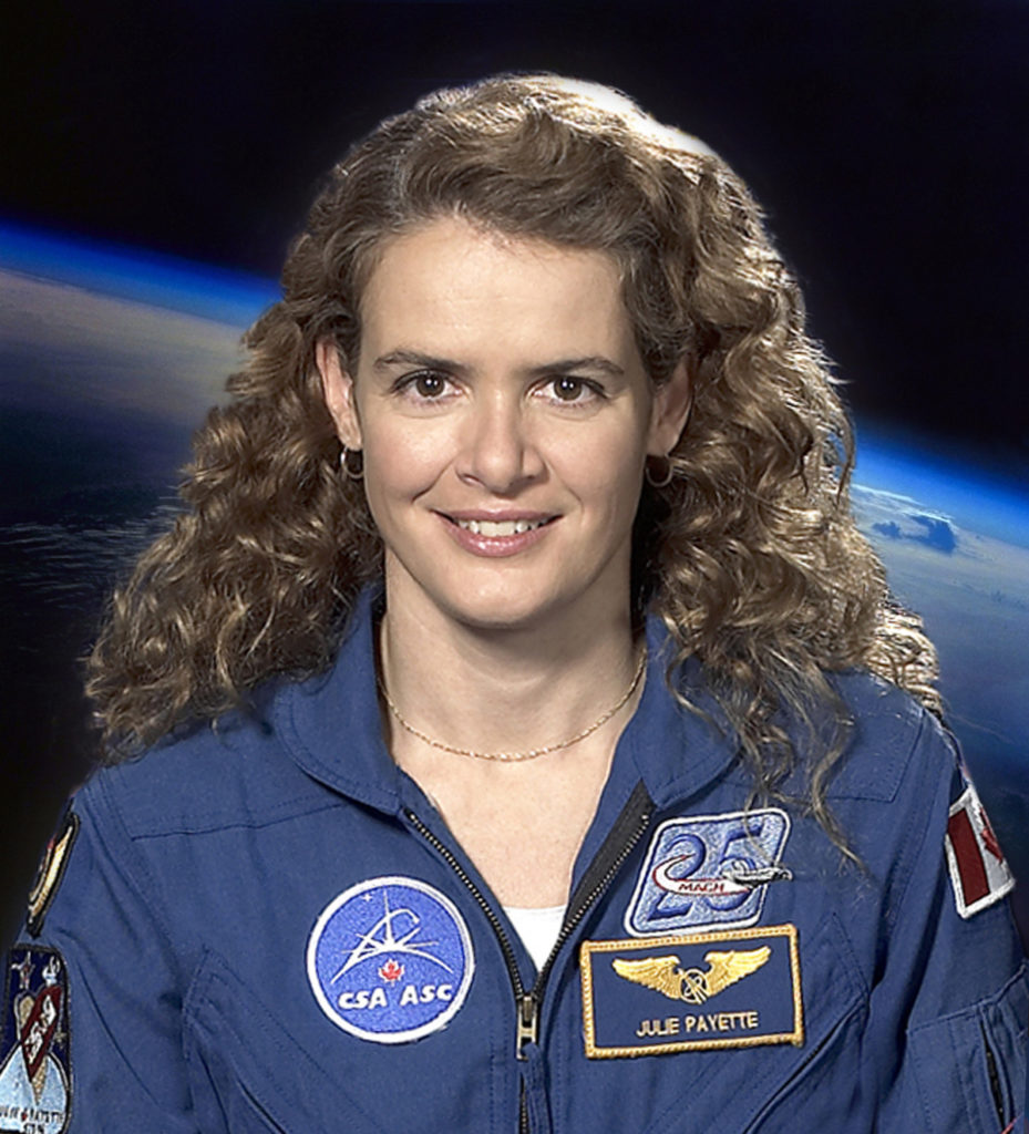A veteran of two space flights, for which she logged over 611 hours in space, Julie Payette is one if the few people to have seen our planet from above-an experience that will no doubt serve as inspiration in her new role. Canadian Space Agency Photo