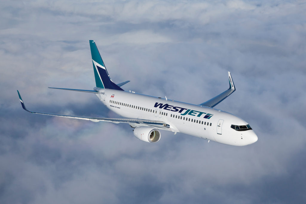 WestJet's new ultra-low-cost carrier will be branded separately from the main airline and crew will wear different uniforms. The new service will initially field a fleet of 10 Boeing 737-800 aircraft, shown here in mainline WestJet livery. WestJet Photo