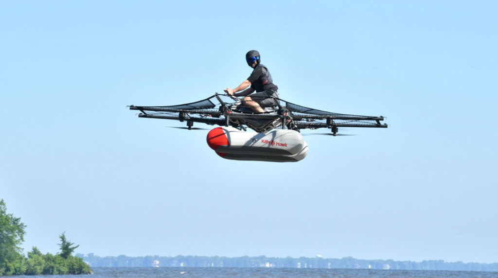 Todd Reichert flies the Kitty Hawk Flyer at EAA Seaplane Base. Kenneth I. Swartz Photo