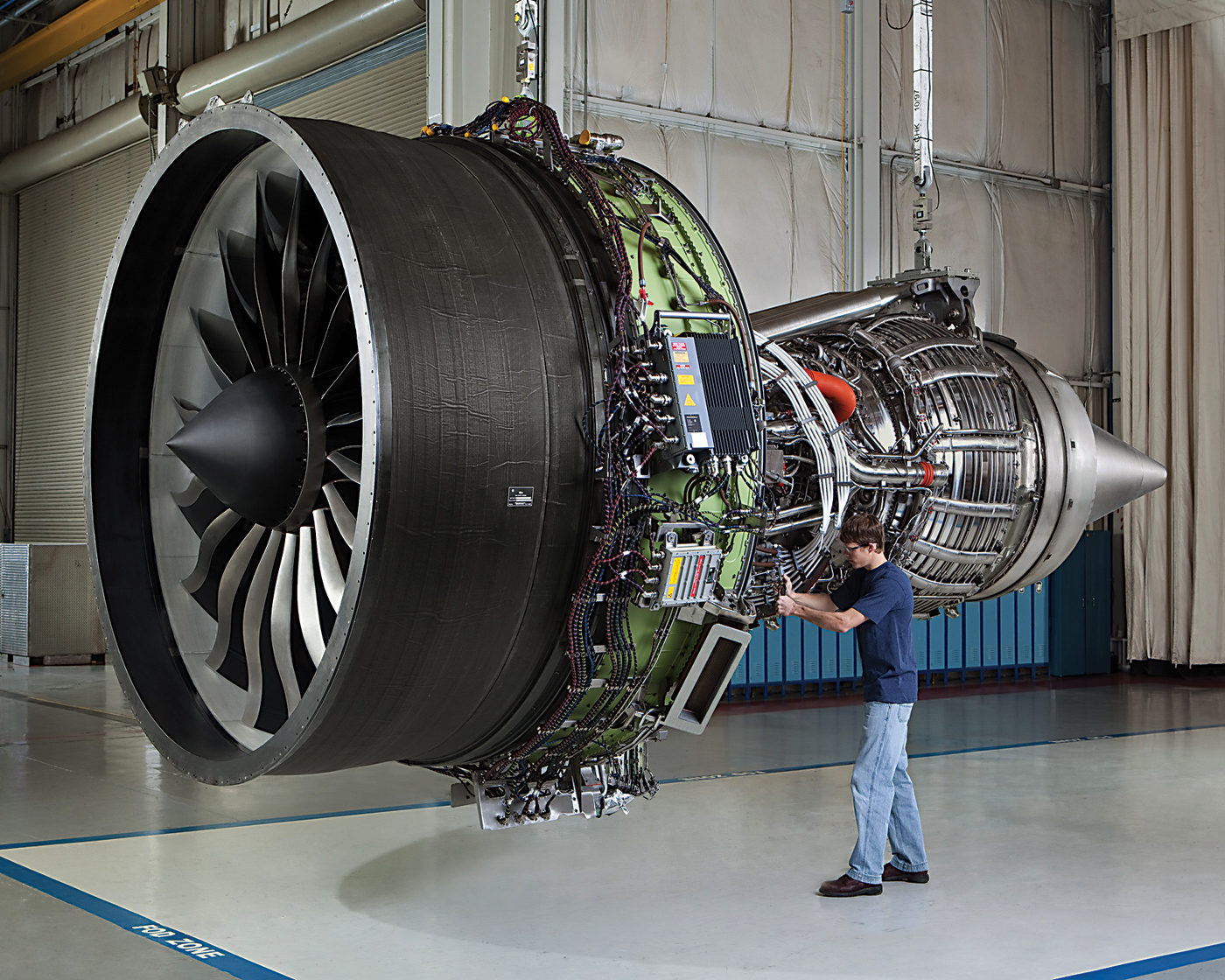 Staff in Bromont also make parts for the GEnx, a next-generation engine for, among others, Boeing's 787 Dreamliner. GE Photo