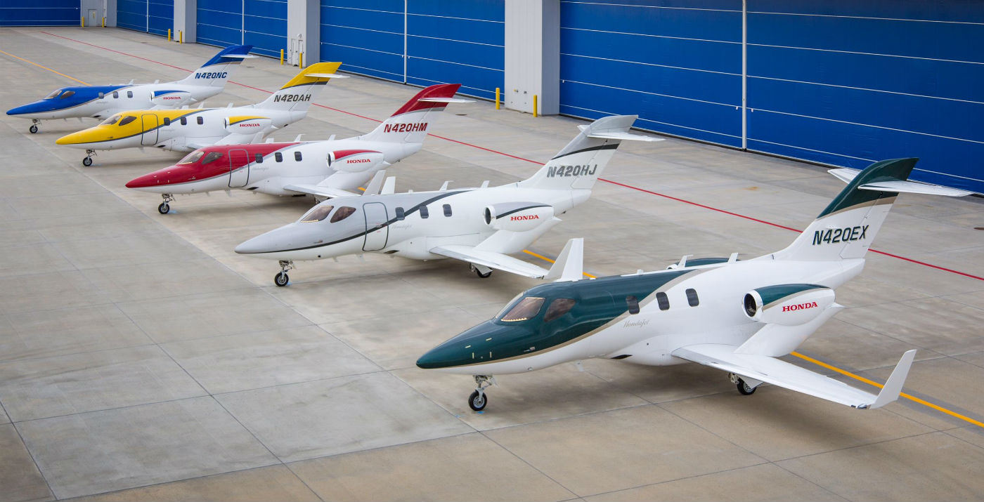 Honda Aircraft is steadily ramping up production to meet customer demand, and is currently manufacturing the aircraft at a rate of about four per month at its world headquarters in Greensboro, N.C. Honda Aircraft Photo