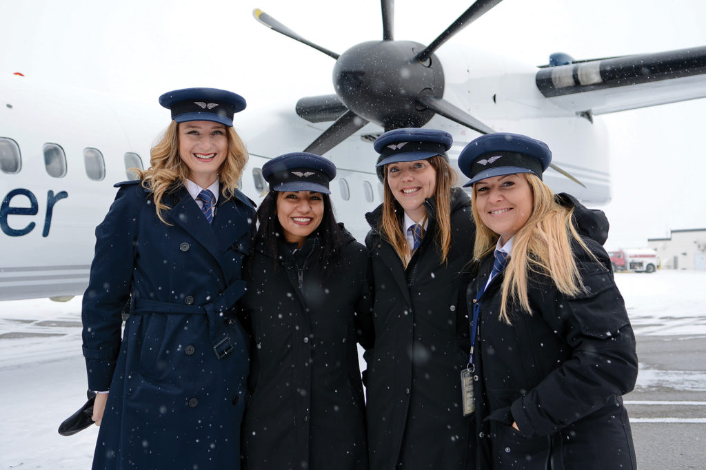 Porter Airlines has deployed all-female flight crews to various events encouraging women in aviation. Gustavo Corujo Photo