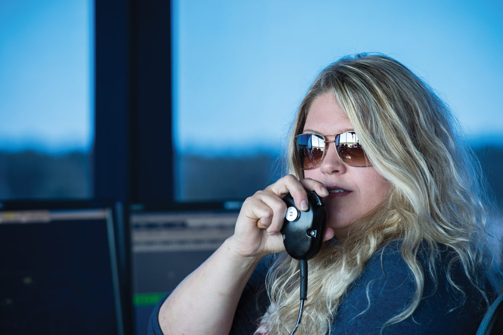 Tiina Lane is an air traffic controller at the Sault Ste. Marie Tower. Nav Canada Photo