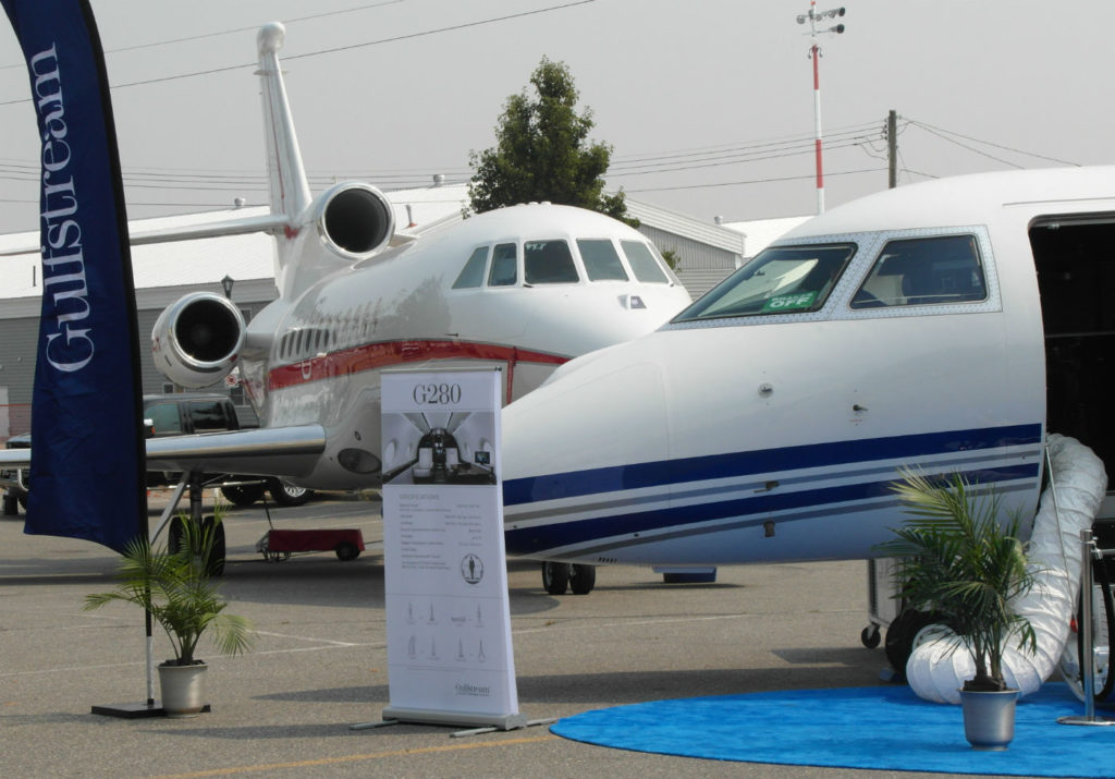 A total of 18 aircraft were on static display at the show, ranging from a First World War Sopwith Pup fighter [displayed at the Skies booth] to the very latest offerings from business jet manufacturers, including Bombardier, Dassault, Embraer, Gulfstream, Honda Aircraft, Pilatus, Quest and Textron. Lisa Gordon Photos