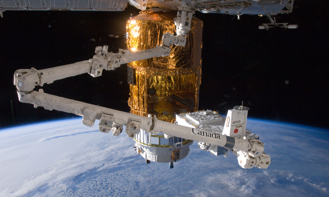 Canadarm2 in action on the International Space Station