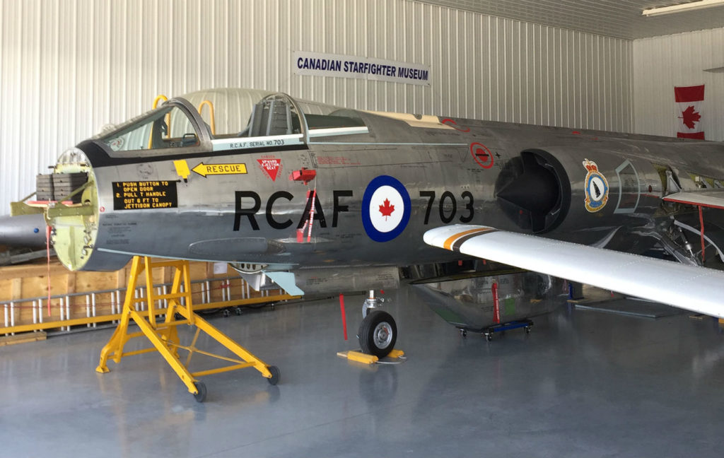 The Canadian Starfighter Museum's nearly completed Starfighter renewal project. Martin Zeilig Photos