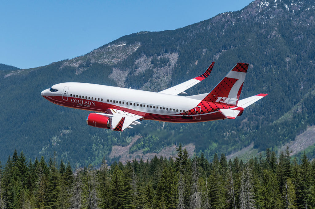 The first Fireliner, acquired from Southwest Airlines, arrived in Port Alberni on May 26. Over the next few months, Coulson Aviation will convert the aircraft into an air tanker capable of carrying 4,000 gallons (15,141 litres) of water or flame retardant.