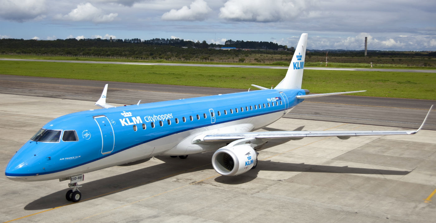 Chorus Aviation recently acquired an Embraer 190 aircraft, currently on lease to KLM Cityhopper. KLM Photo