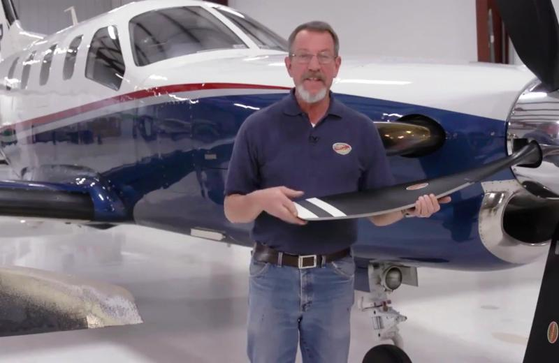 In the new video, Hartzell Propeller's technical expert Kevin Ryan explains pre-flight checks. Hartzell Photo
