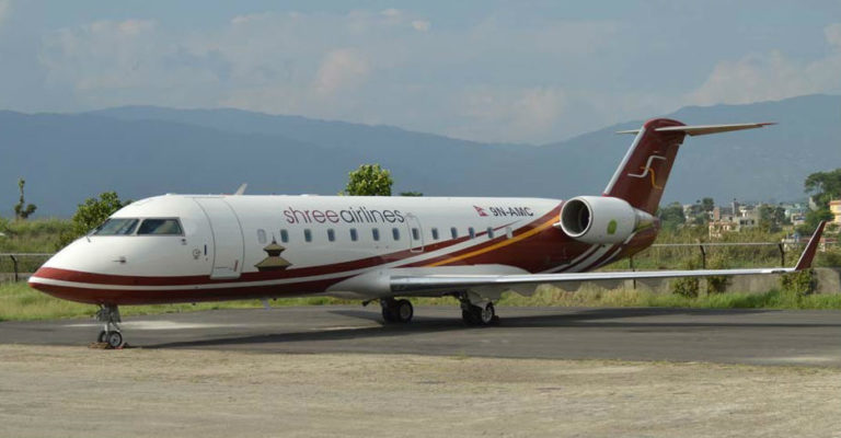 Shree Airlines has launched new fixed-wing operations in the regions of Nepal with two CRJ200 aircraft and one CRJ700 aircraft. Bombardier Photo