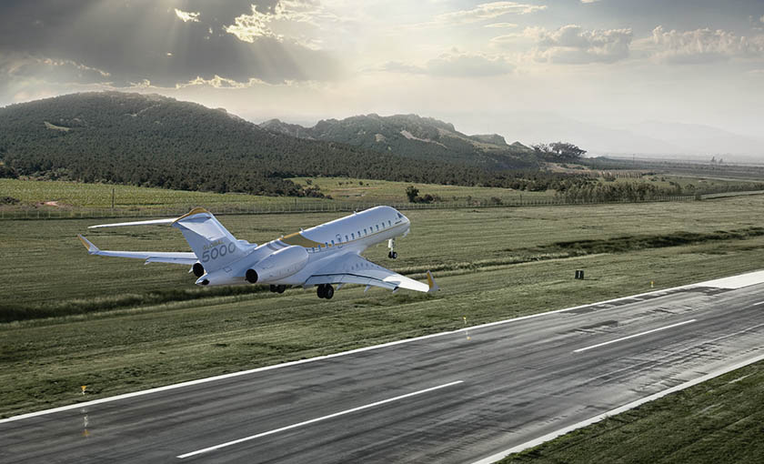 MAGA Aviation will carry out maintenance on Bombardier Global Express and Global 5000 (pictured here) aircraft models. Bombardier Photo