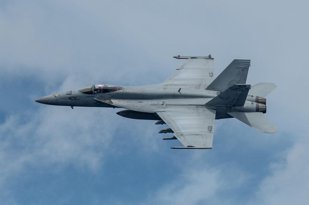 Super Hornet in flight