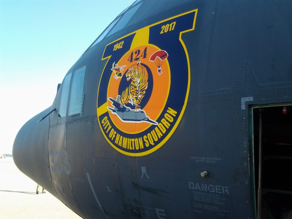 Closeup of logo on CC-130H Hercules