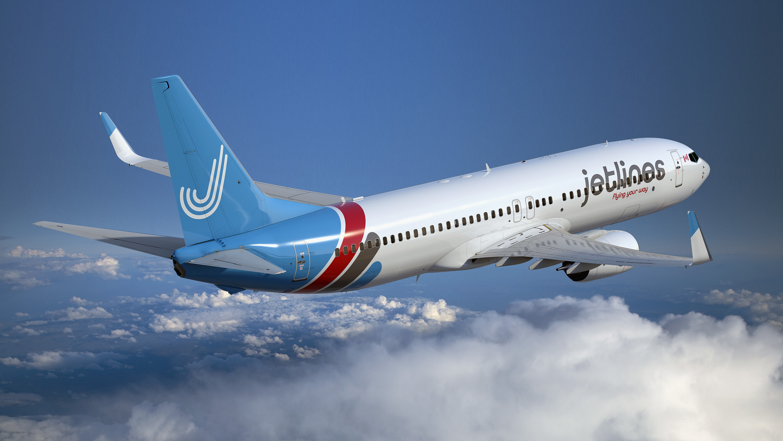 Canada Jetlines plane in flight