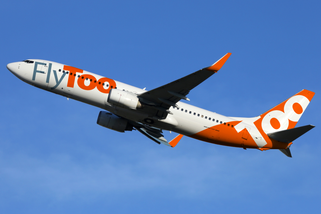Plane in FlyToo livery
