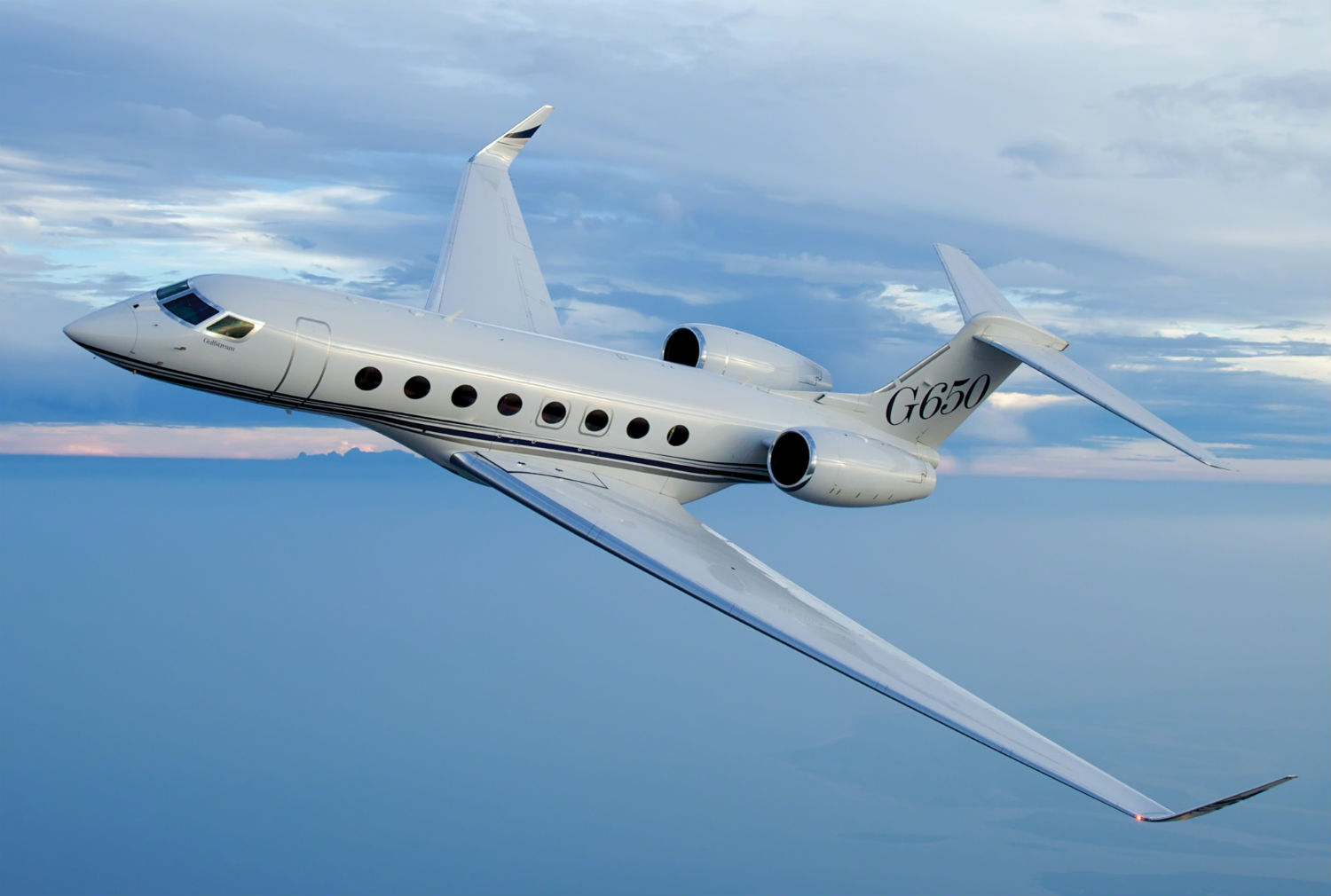 G650 in flight.
