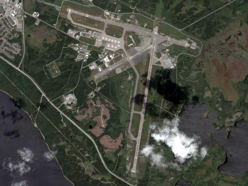 Birds-eye view of Gander International Airport
