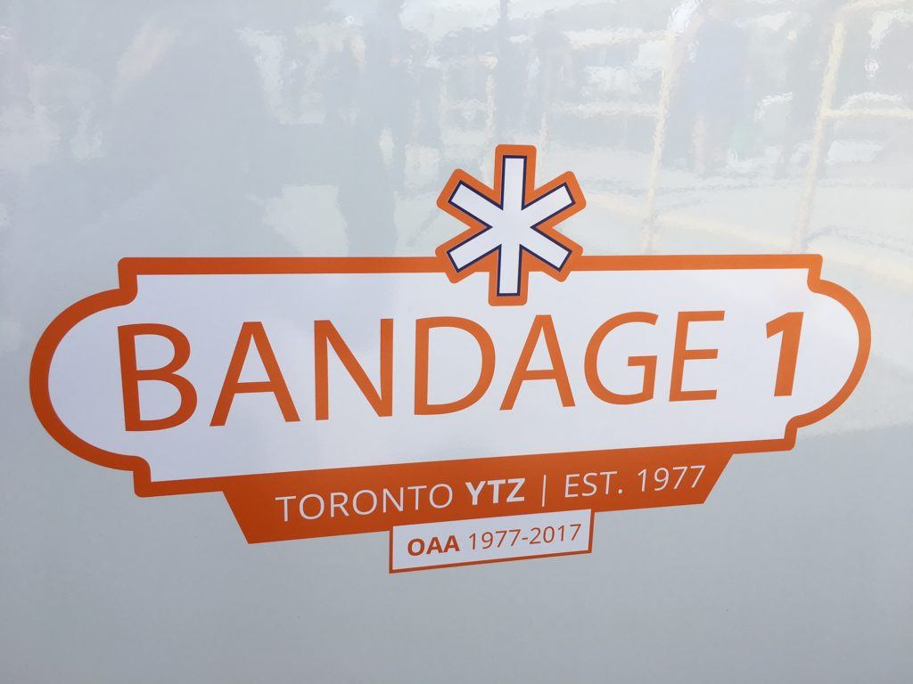 "Close-up of ""Bandage 1"" decal"