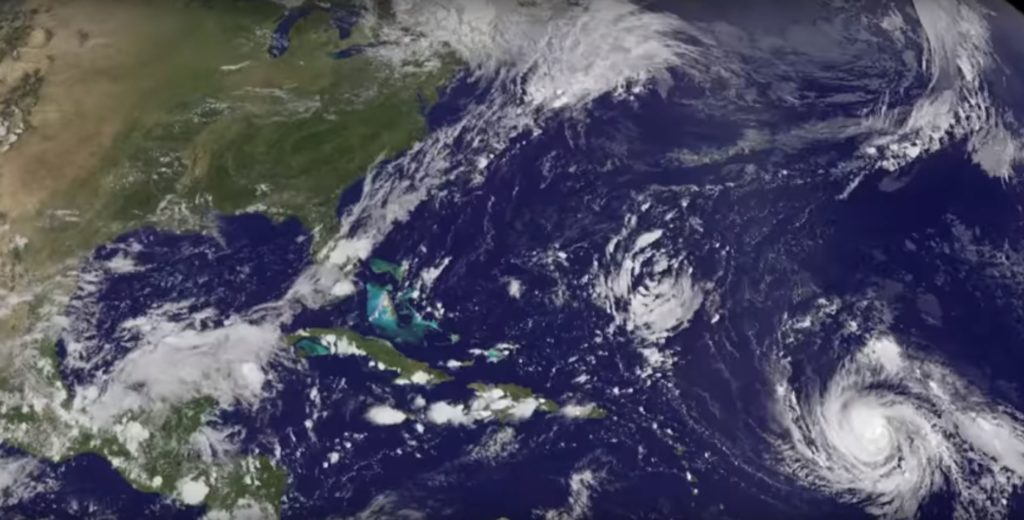 Satellite animation of Hurricane Irma