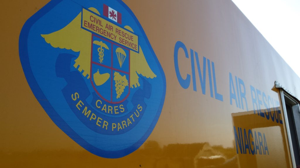 Civil Air Rescue Emergency Service (Niagara) logo. They assist CAF and other agencies with aircraft and trained crews to support search and rescue missions.