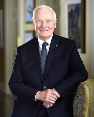 Governor General and commander-in-chief of Canada, David Johnston
