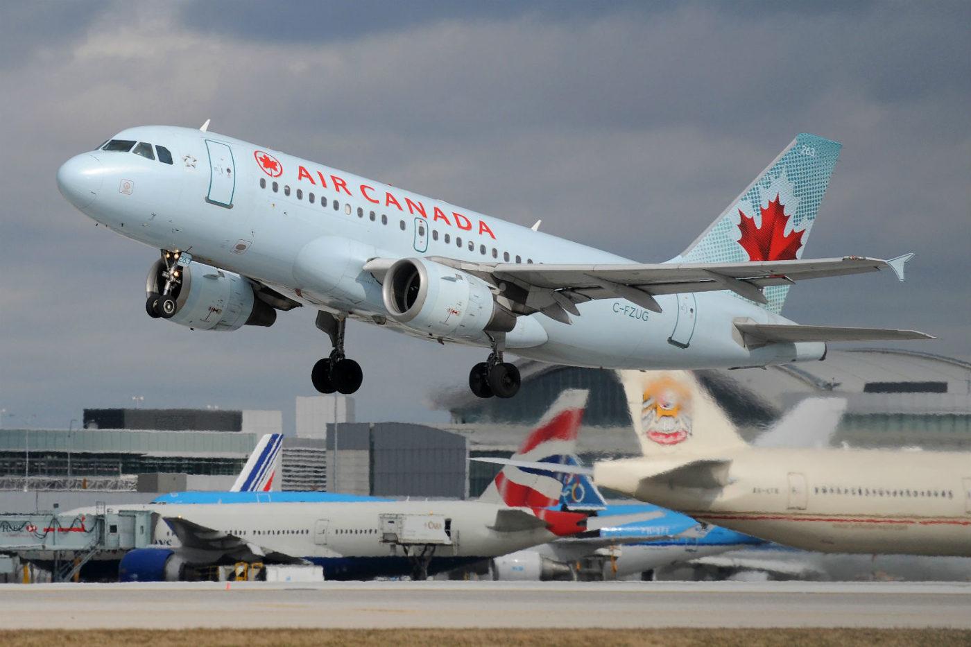 Air Canada A319 in flight.
