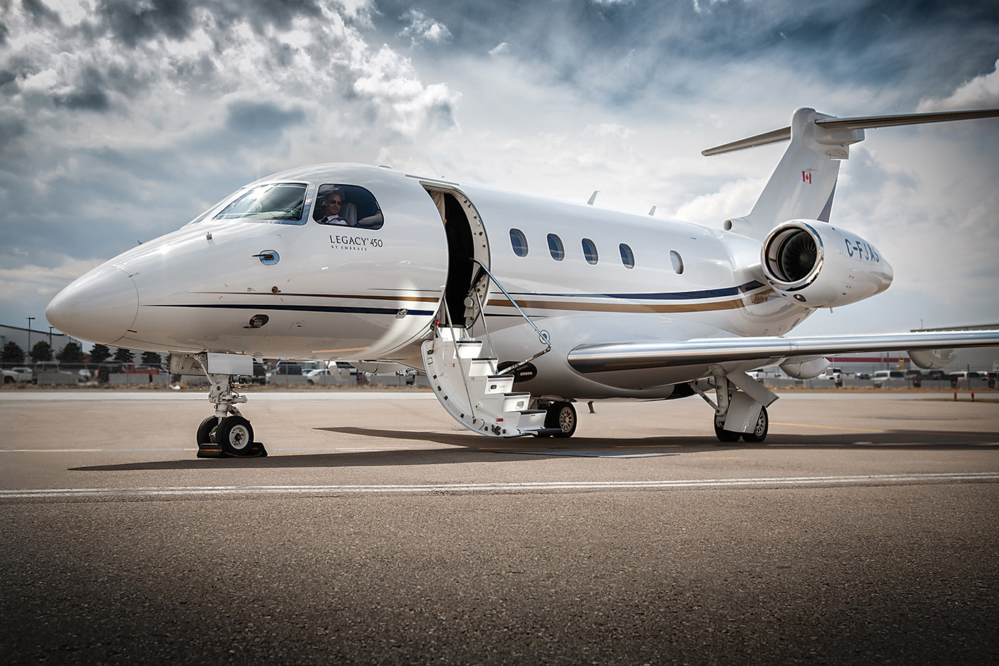At AirSprint, the Legacy 450 carries a purchase price of US$550,000 for a one-32nd share (25 hours of access annually). The fractional owner also pays $88,000 a year in management fees and a rate of $3,800 for each occupied flying hour. AirSprint Photo