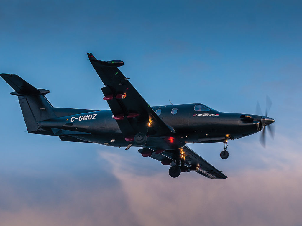 Chrono Aviation was launched in 2012 with just one Pilatus PC-12. Today, Chrono operates 10 aircraft of varying types throughout Quebec, the North and some parts of the U.S.