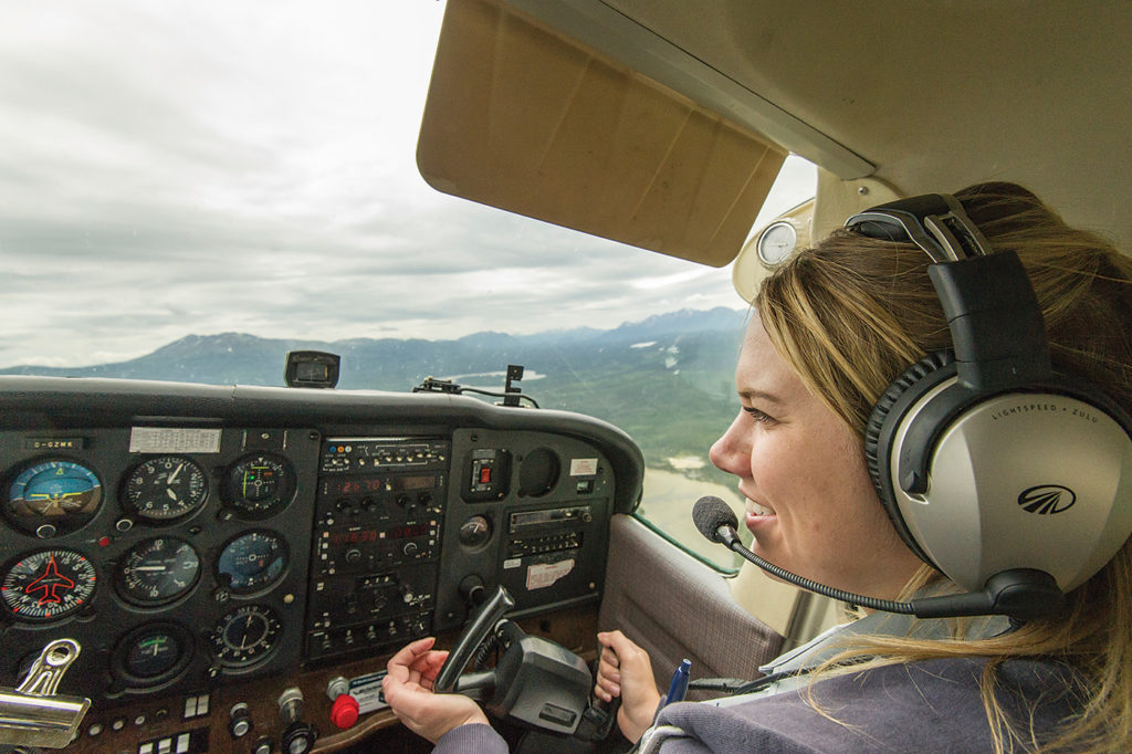 Flight instructor Jessica Rabideau works for Whitehorse, Yukon-based Alkan Air. Alkan Air Photo