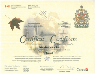 Any person or business safekeeping and/or handling Controlled Goods within Canada is required, based on the Defence Production Act, to be registered by the Government of Canada or in some cases be exempt from such a registration.