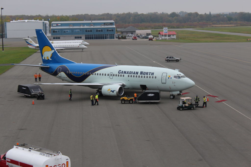 The possibility of adding scheduled passenger service to Peterborough Airport is now being considered, based in part on the success of aircraft charters performed by airlines such as Canadian North. YPQ Photo