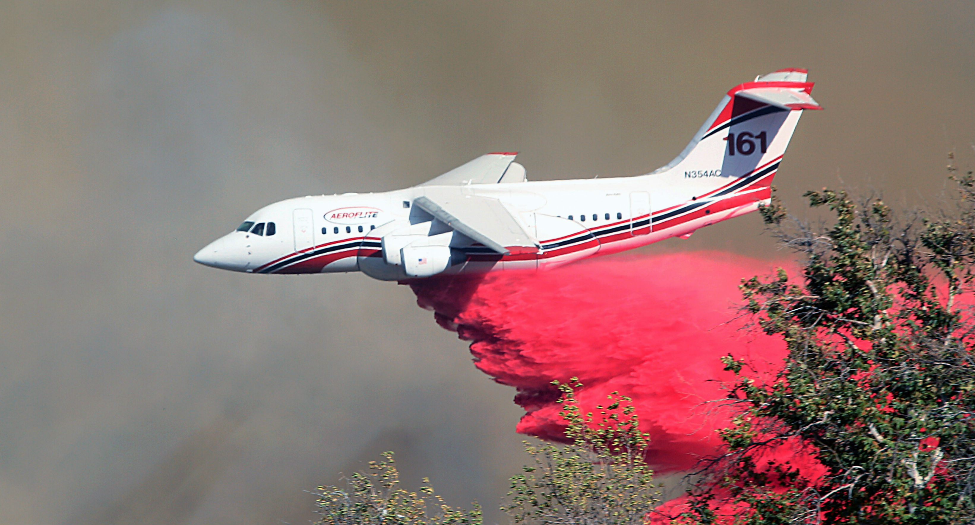 Conair Aerial Firefighting jets have dropped millions of litres of retardant to help combat North American wildfires.