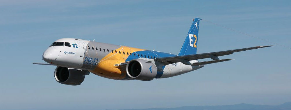 Widerøe signed a contract with Embraer consisting of three firm orders for the E190-E2. Embraer Photo