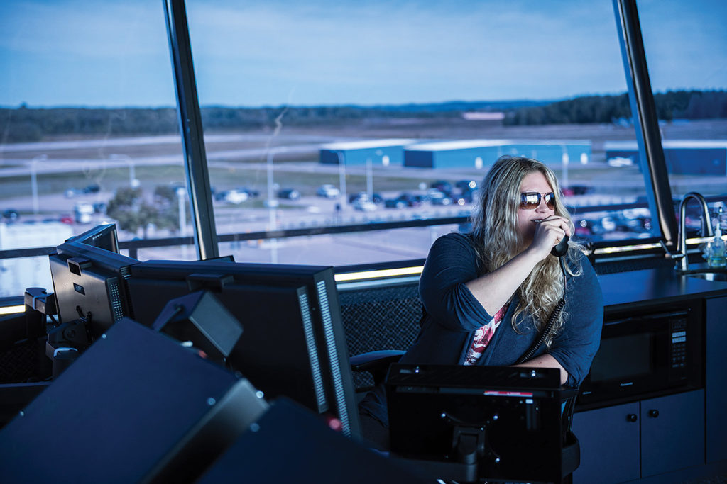 Nav Canada operates 41 air traffic control towers. Controller Tiina Lane is based at the Sault Ste Marie, Ont. facility.