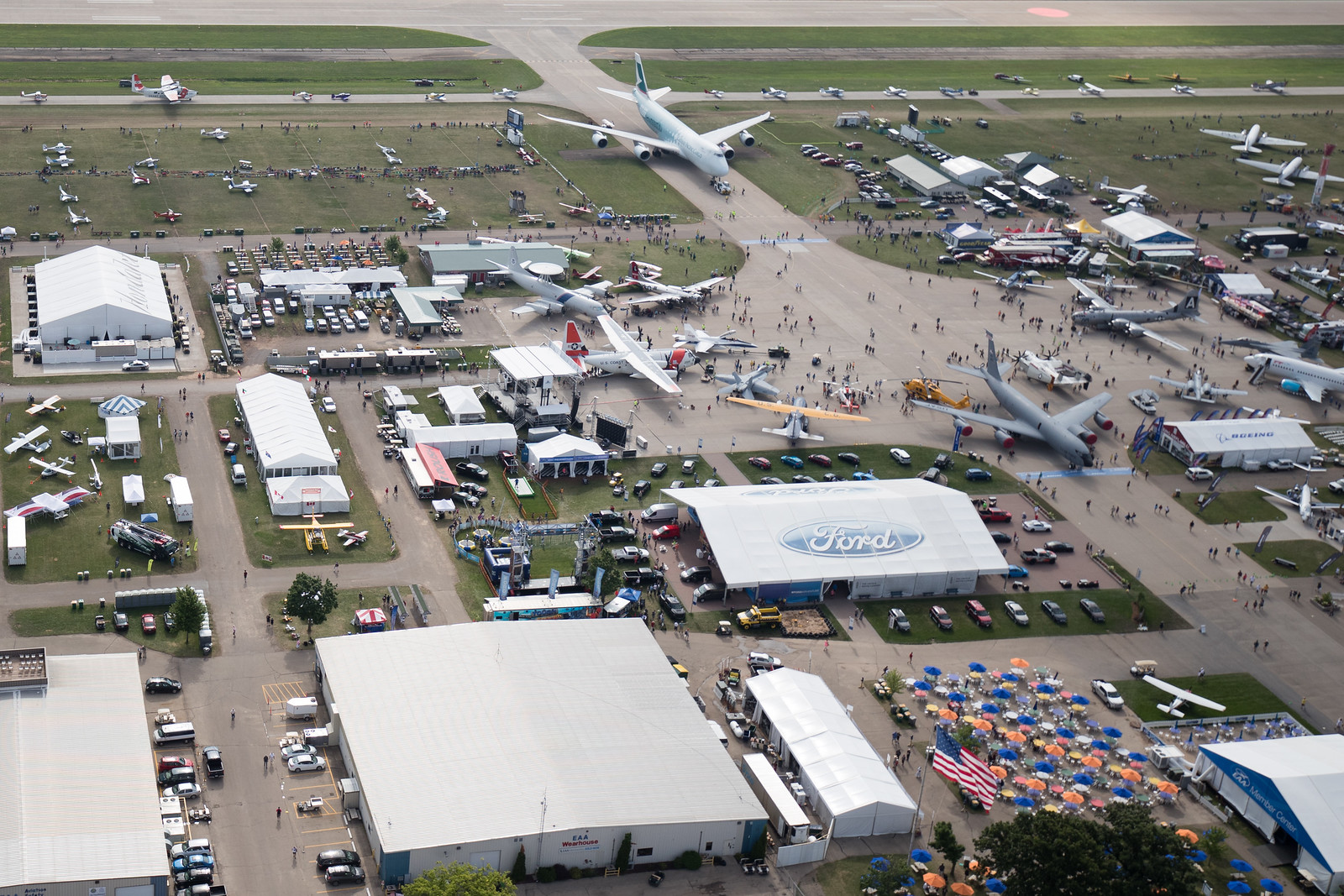 An aerial view of EAA AirVenture Oshkosh in 2016. Warren Liebmann Photo