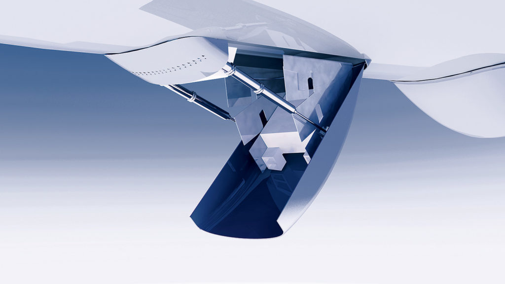 A rendering of the aircraft's drop hatch. PAL Aerospace Photo
