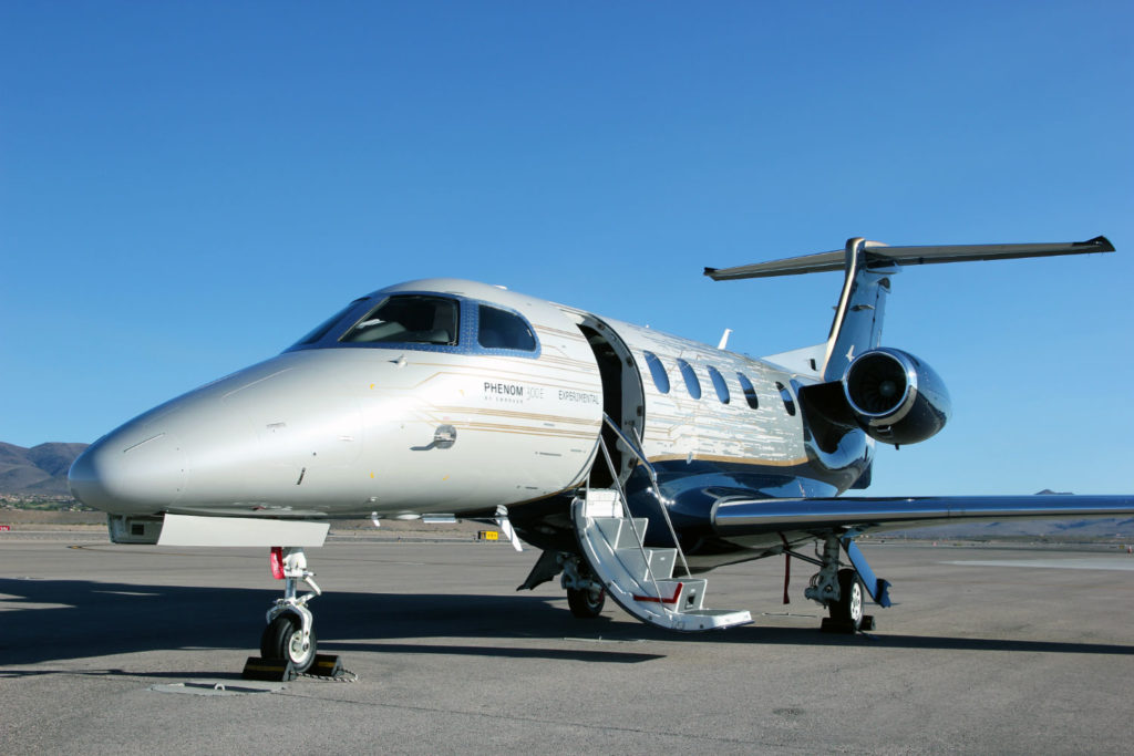 Phenom 300E rests on tarmac