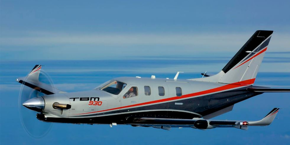 TBM 930 in flight