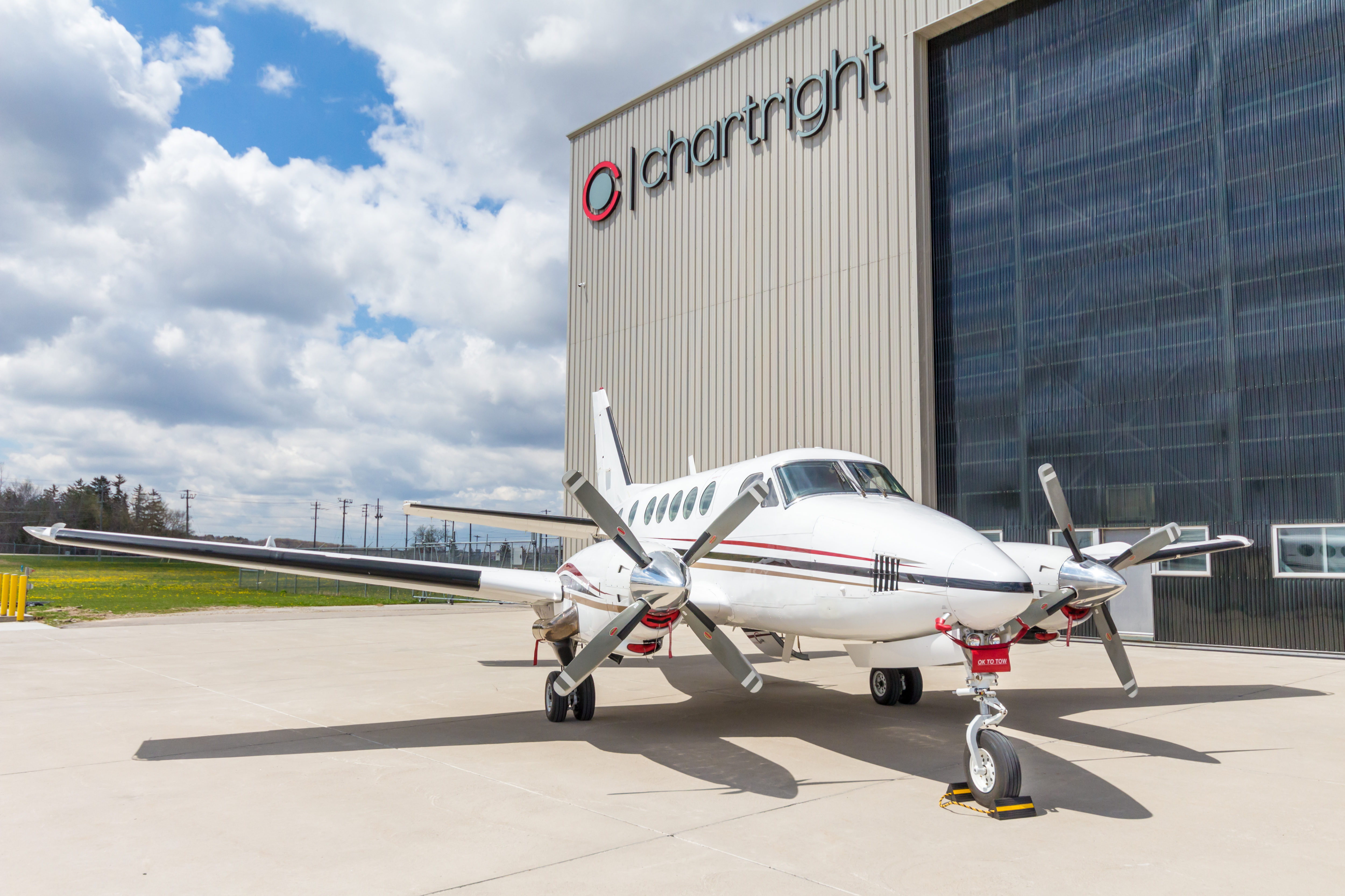 Chartright operates a 50,000-square-foot hangar and fixed based operations facility at the Region of Waterloo International Airport. Kitchener Aero will become Chartright's newest tenant at this location. Chartright Photo