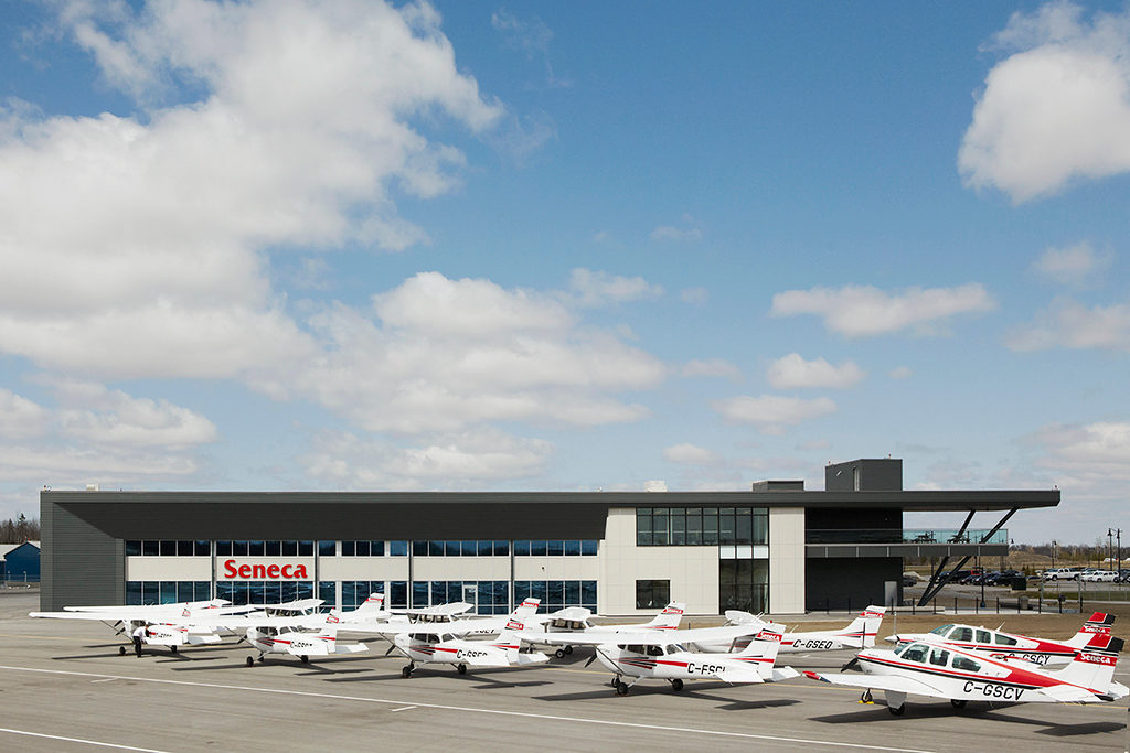 Some 150 student pilots train at Seneca College's Peterborough Campus. Annual airport movements have increased dramatically since the college came to the airport in January 2014. Seneca College Photo