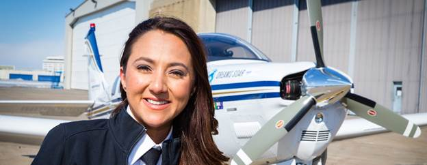 Shaesta Waiz, the adventurous pilot who completed the landmark 2017 'Dreams Soar' round-the-world flight to raise awareness for the need for greater access for girls and youth globally to Science, Technology, Engineering and Math (STEM) education.