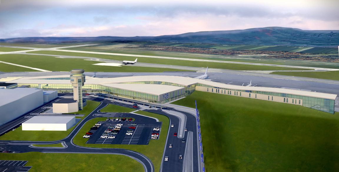 The new terminal is scheduled to open to the public on Dec. 11. YQB 2018 Image