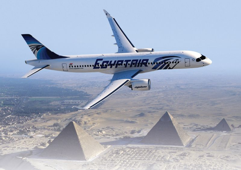 The CS300 allows Egypt to better serve domestic and regional destinations, while being well-suited to perform in hot temperature environments. Bombardier Photo