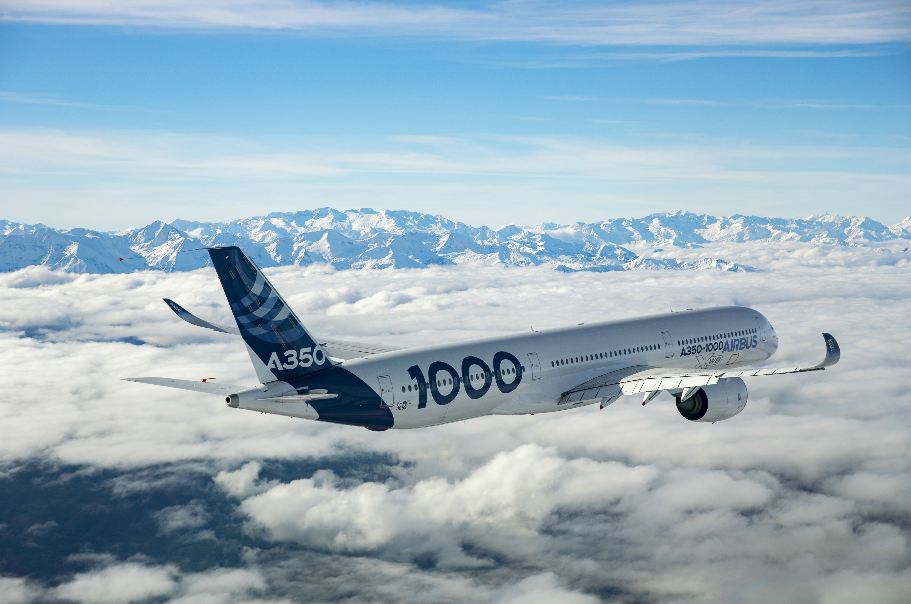 Airbus A350-1000 in flight