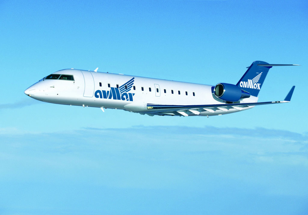 Avmax Bombardier CRJ aircraft in flight