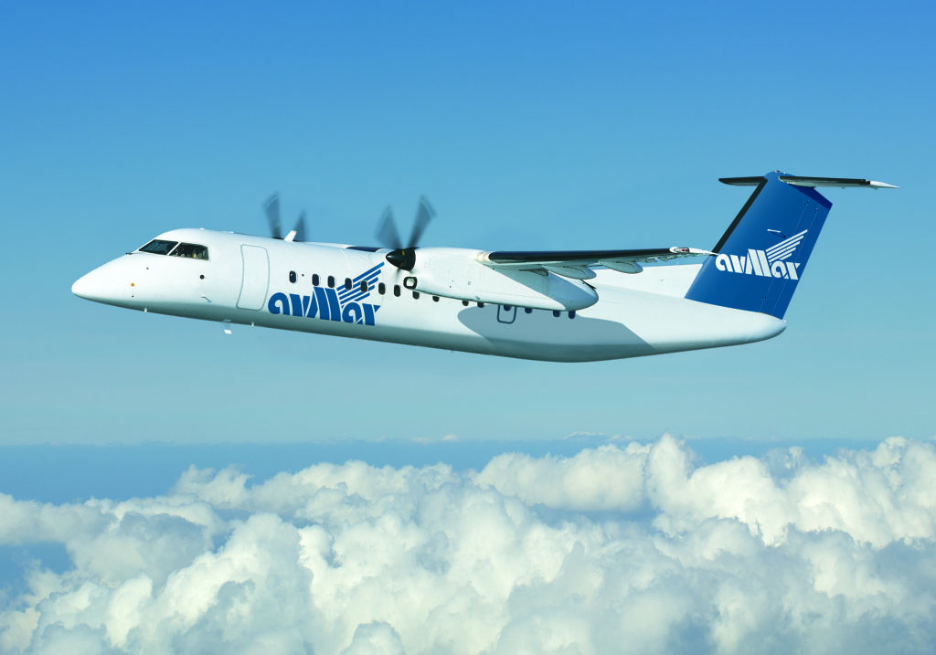 Avmax Bombardier Dash 8 in flight