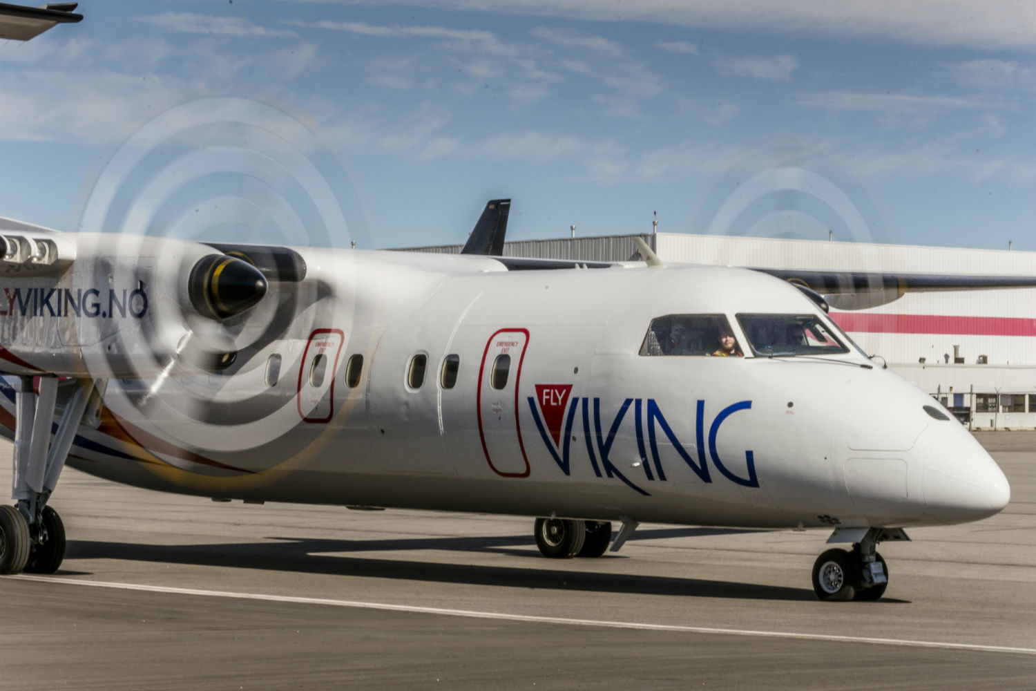 Fly Viking Bombardier Dash 8 on runway