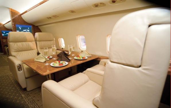 Inside view of Bombardier CRJ SE aircraft